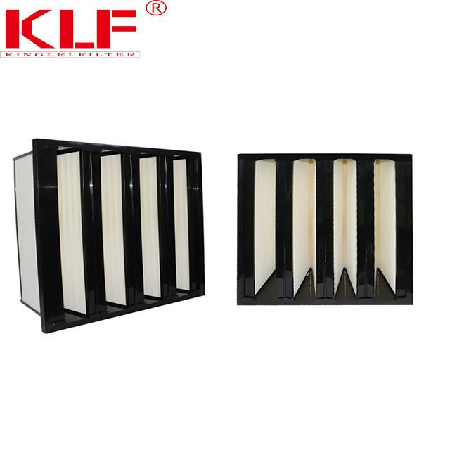 Long life W type high efficient glass fibre mesh universal air filter