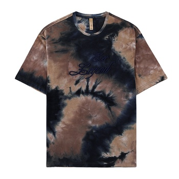 black tie dye 95%cotton 5% spandex colorful trendy funky fashion embroidery street t-shirt t shirt for mens