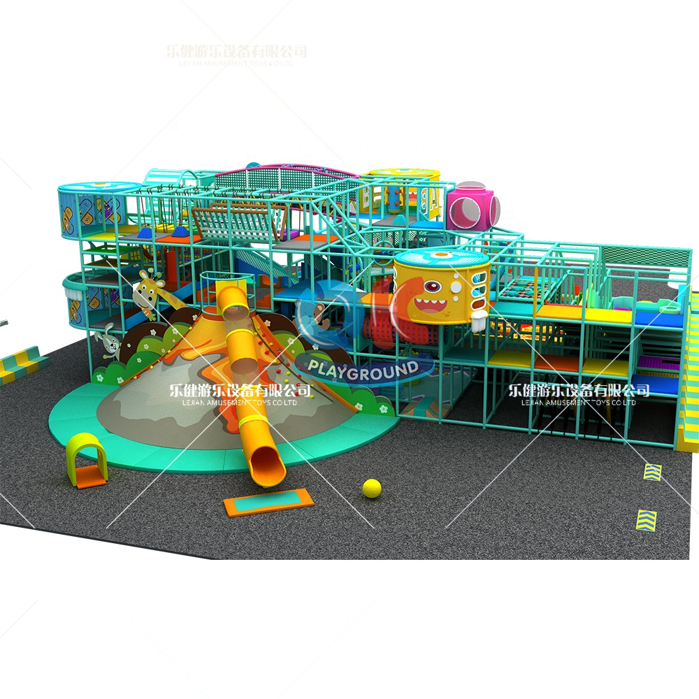 High Quality Kids Space Theme Indoor Playground with big slides for sale
