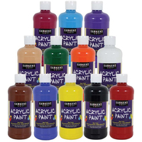 Set of 12 - 16oz Acrylic Paint