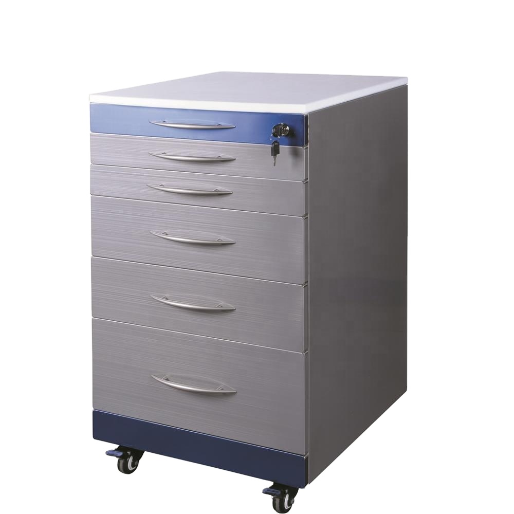 Wellwillgroup High Quality Stainless Steel Mobile Dental Cabinet Dental Clinic Cabinet