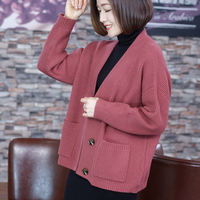 New autumn and winter sweater cardigan coat women long sleeve knitting Elegant and nice knitting button cardigan ladi