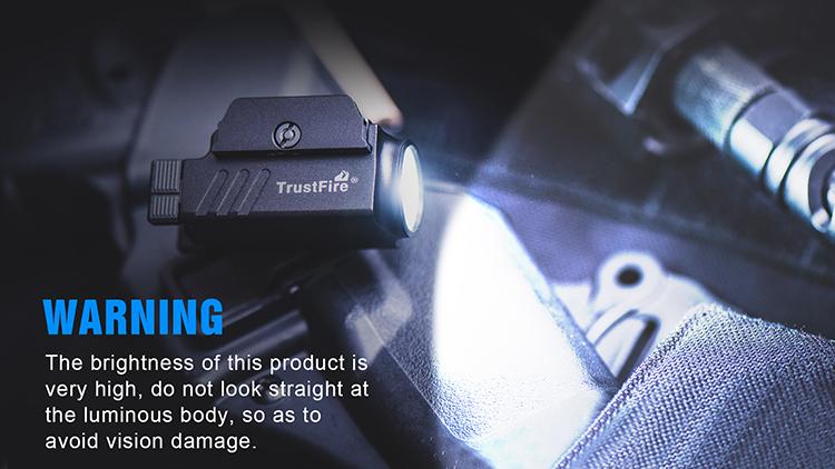 Trustfire GM23 laser Tattico arma torcia pistola montato luce airsoft di caccia torcia elettrica Impermeabile di alluminio ha condotto la luce