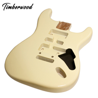unfinished electric guitar body for wholesale with conducting painting processed by CNC