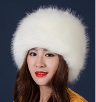 Fashion winter fox fur hat white fur hat winter fur hat