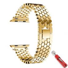Ремешок для apple watch 5 band 44 мм 40 мм iwatch band 42 мм 38 мм ремешок из нержавеющей стали металлический браслет для серии 6 4 3 38/44 мм(Китай)