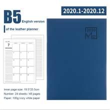 Ежедневник 2020, 24 листа, записная книжка, органайзер для планирования, дневник, кожаный блокнот, школьный офис, стационарный(Китай)