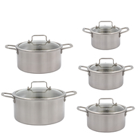 New product easy clean uniform fast heated 20cm aluminum cookware soup pot