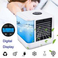 Мини-кулер для личного использования, портативный кондиционер, USB бесшумный Настольный вентилятор, устройство с 7-цветной подсветкой, конди...(Китай)