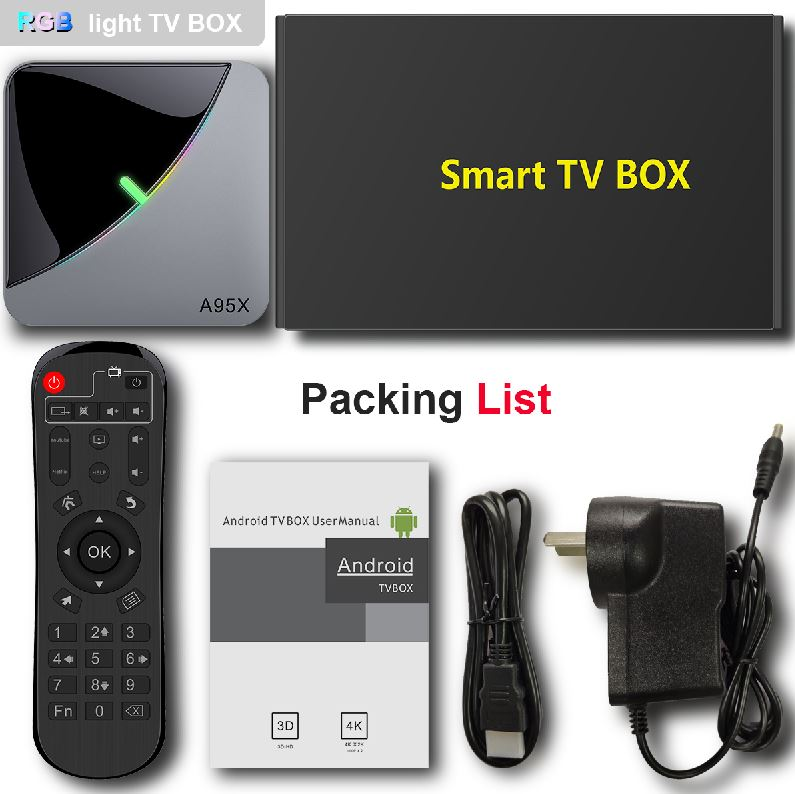 A95X F3 aire Amlogic S905X3 GPU Mali G31 4gb 32gb 4k ultra hd android tv box