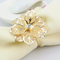 Napkin Rings with Hollow Out Flower for Dinner Parties Birthdays Weddings Christmas and Other Parties