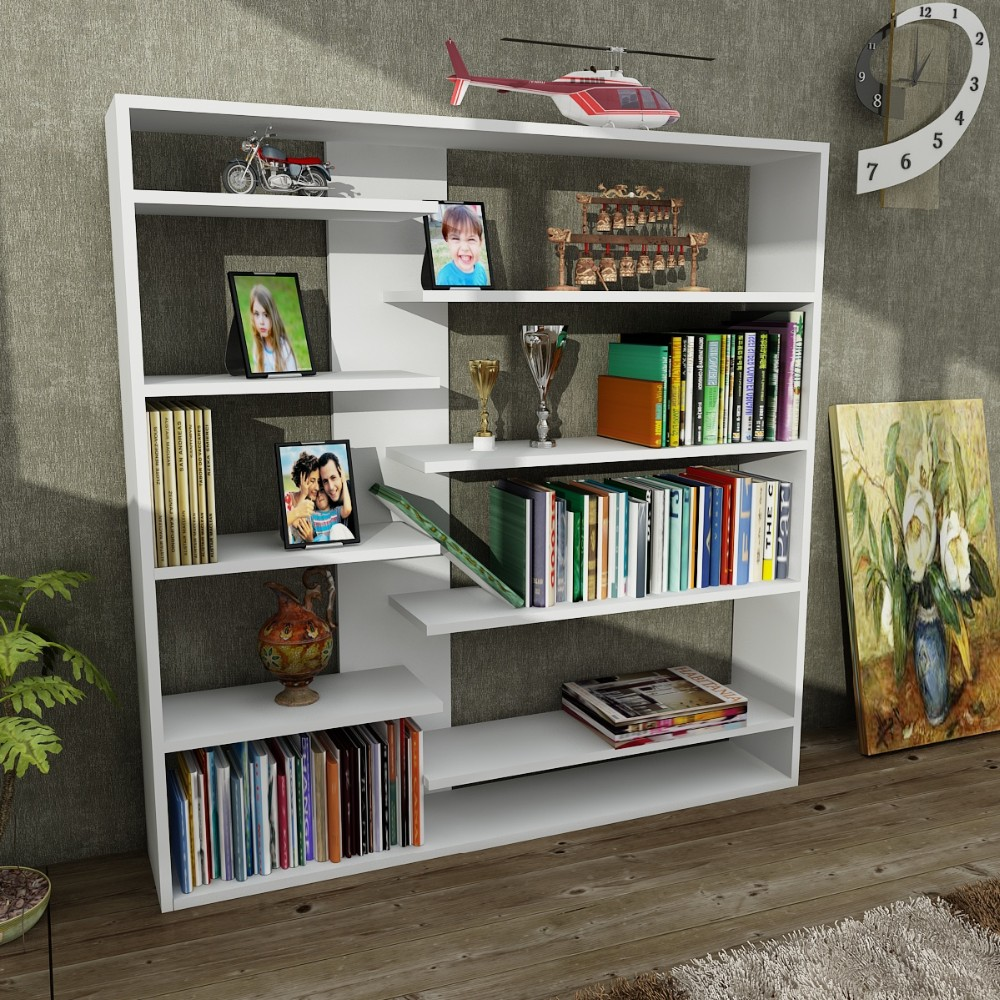 Handy Cheap Portable Modern Bookshelf White Bookcase Buy