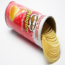 Canned food competitive pringles potato chips
