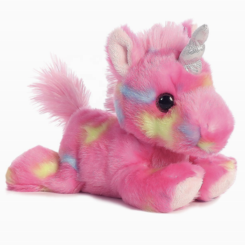 Stuffed Rainbow Animals - Blueberry Ripple Unicorn & Jelly Roll Unicorn, Blue/Pink, Multicolor