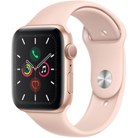 Apple Watch Series 5 (GPS Only, 44mm, Gold Aluminum, Pink Sand Sport Band)