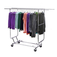Roll faltbare kleidung rack mit rad für <span class=keywords><strong>shop</strong></span>