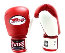 NACH TWINS SPECIAL MUAY THAI RINDSLEDER LEDER BOXING HANDSCHUHE DUAL FARBE <span class=keywords><strong>DAUMEN</strong></span>