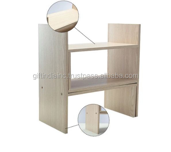 Factory hot sale modern simple combination book shelf wooden display book shelf rack
