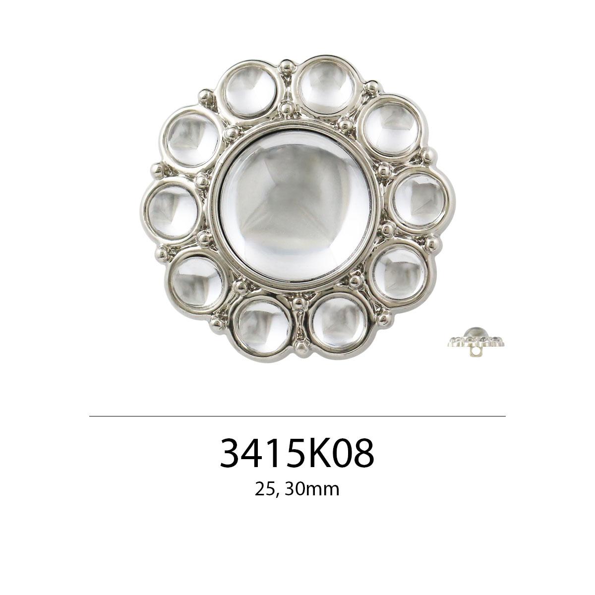 Pabrik Grosir Tombol Berlian Imitasi Besar 25Mm 31Mm Warna Mode AW21 Berbentuk Bulat untuk Kerajinan DIY