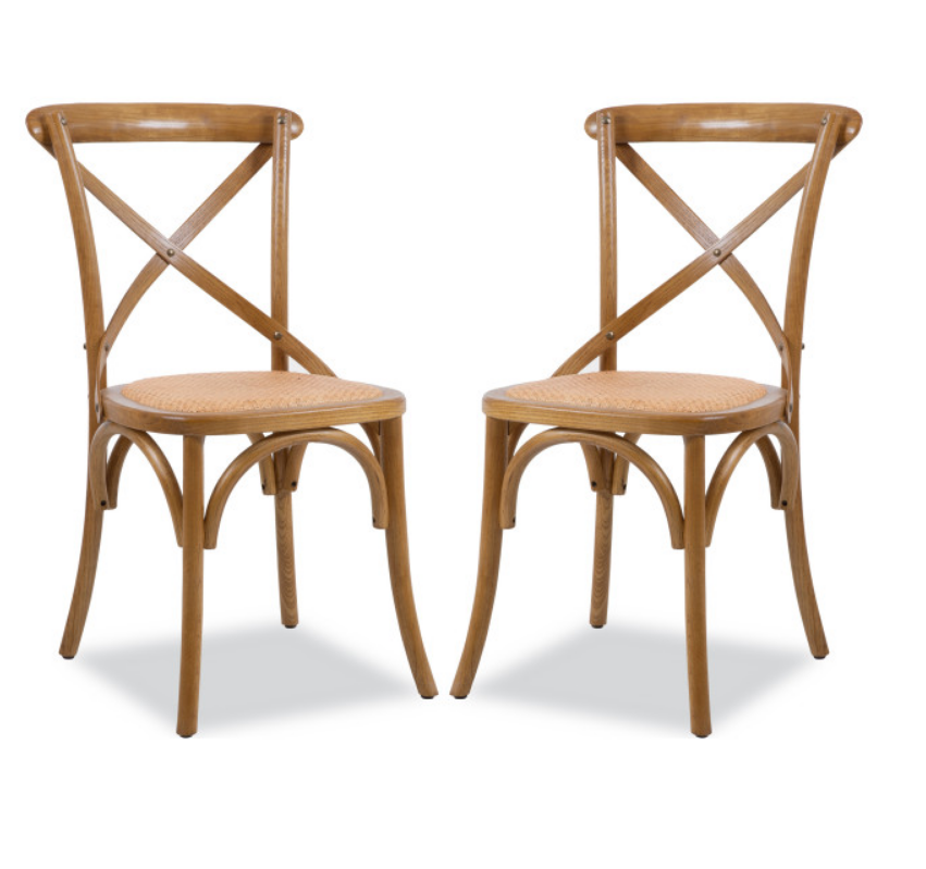 restaurant furniture dining chair solid ash wood chair rattan chair optional color