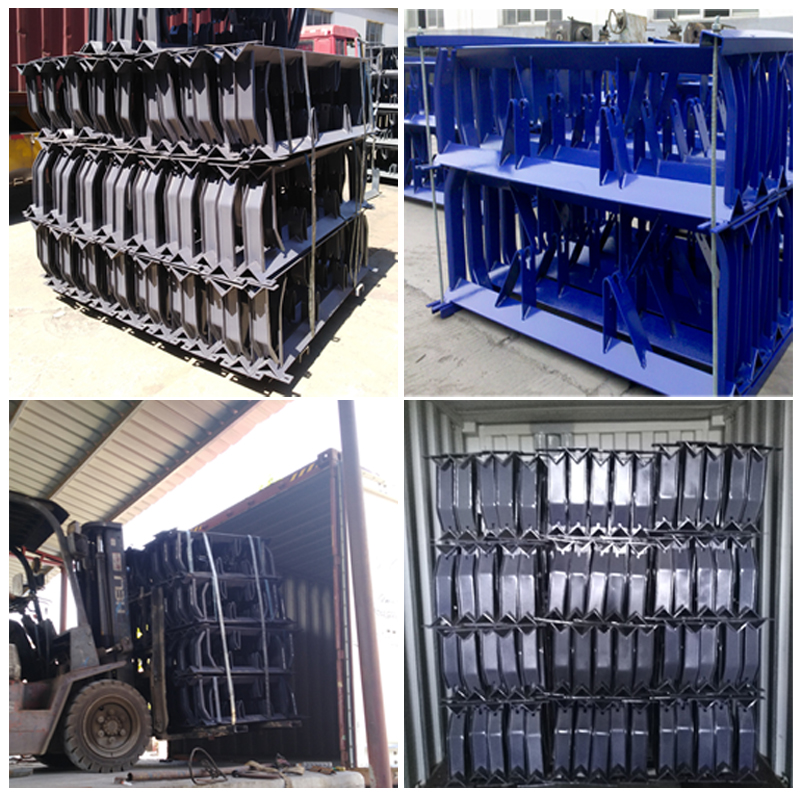 Mining Heavy Duty Steel Roller Bracket Idler Frame Products