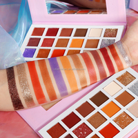 Powder high pigment waterproof eye make-up private label 18 colors eyeshadow palette wholesale cheap price