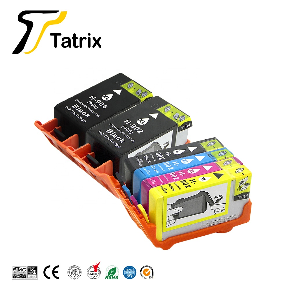 Tatrix 902 902XL 906XL Colore Cartuccia di Inchiostro Rigenerata Per HP OfficeJet Pro 6960 6978 Stampante All in One