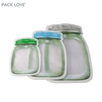 Food protein powder sample sachet packaging plastic clear zip bag