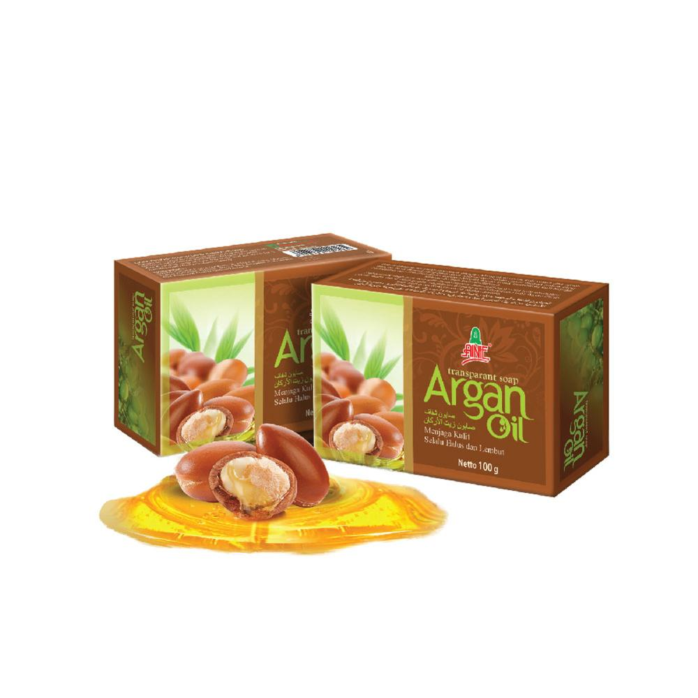 น้ำมันสบู่ Ainie Argan Oil Transparent Soap