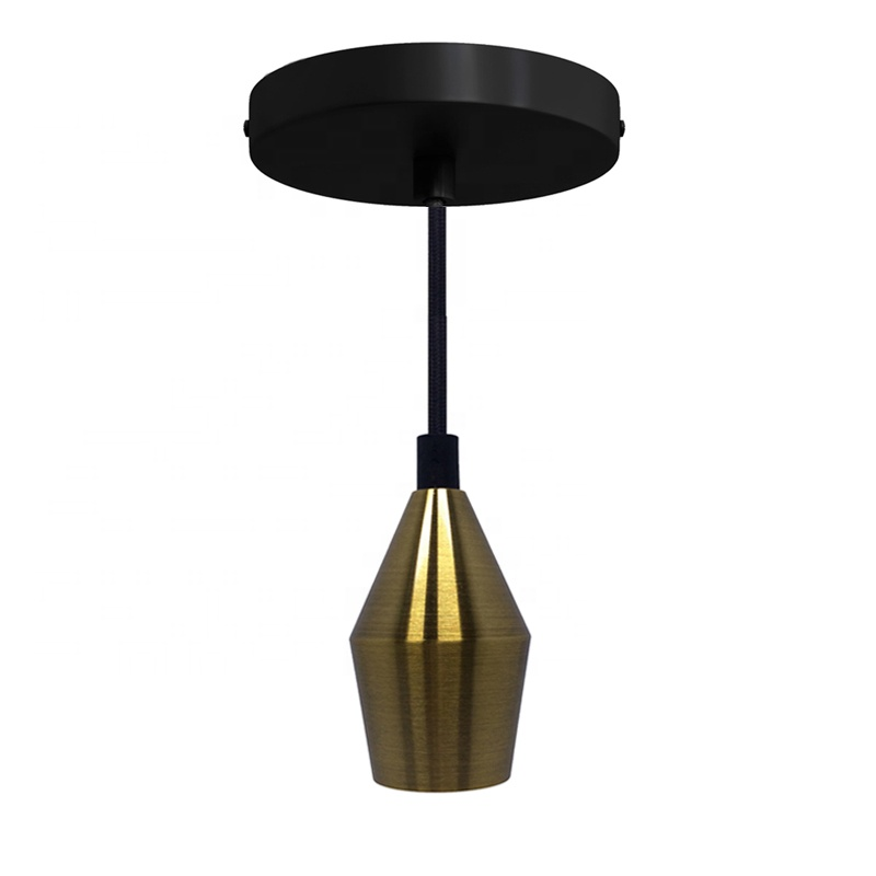 New fashion E27 E26 lamp holder Metal Industrial single pendant light for restaurant