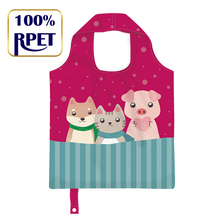 100% reciclado tecido RPET shopping bag totes
