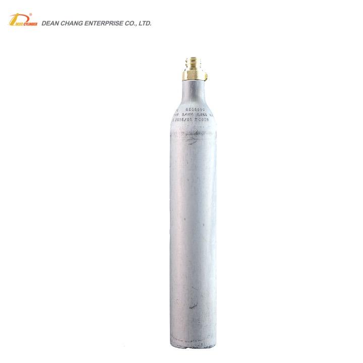 0.6L TPED ISO соды цилиндр co2 соды бак без Исполнительного клапана