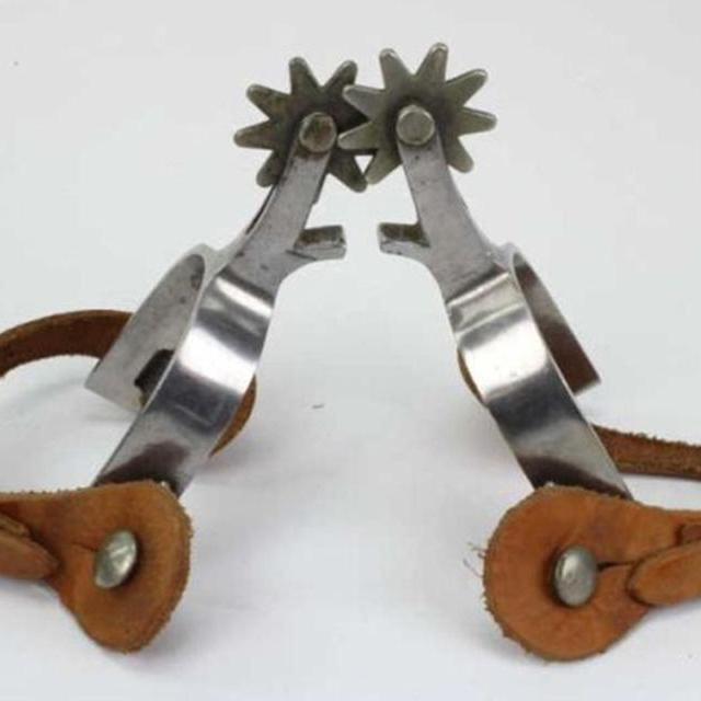 """Dressage Spurs Schultheis S //Steel 7//8/"""" Rowel Ladies Complete With Spur Straps"""