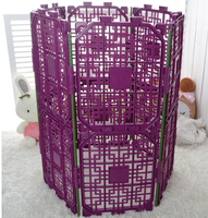 cute pet wholesale DIY dog cat cage plastic pet pen