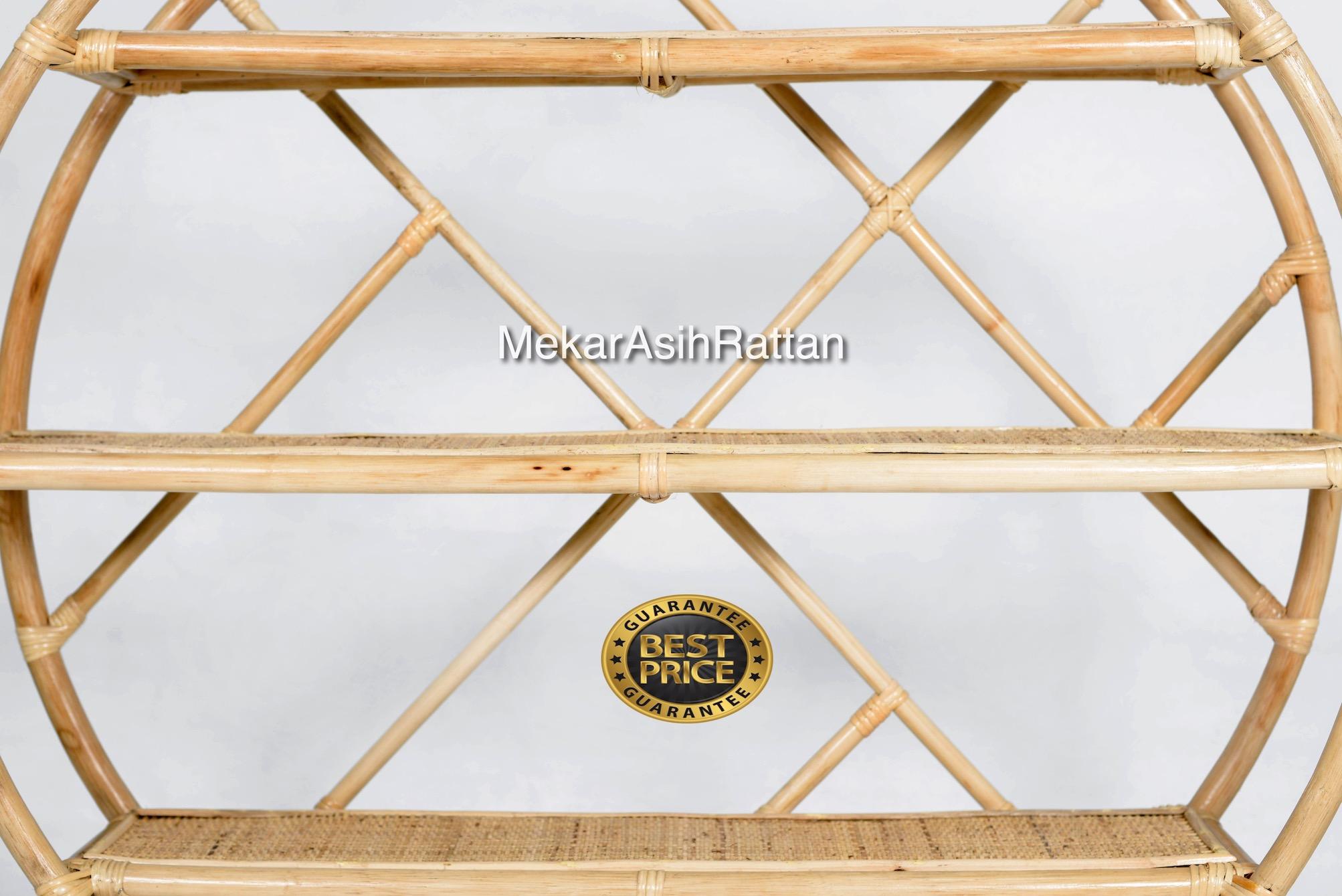 Indonesia natural Rattan home decoration rack book and libro de rak living room