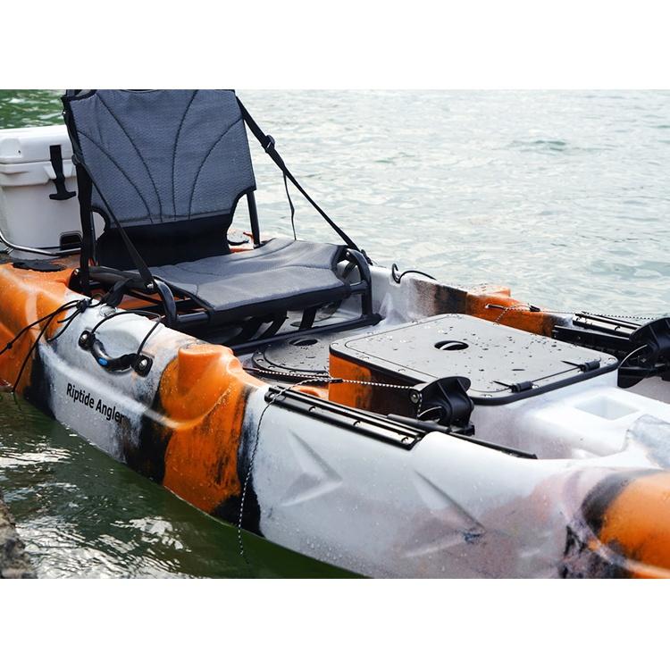 3.85m desempenho estável assento de alumínio Tandem kayak de pesca/canoa com pá