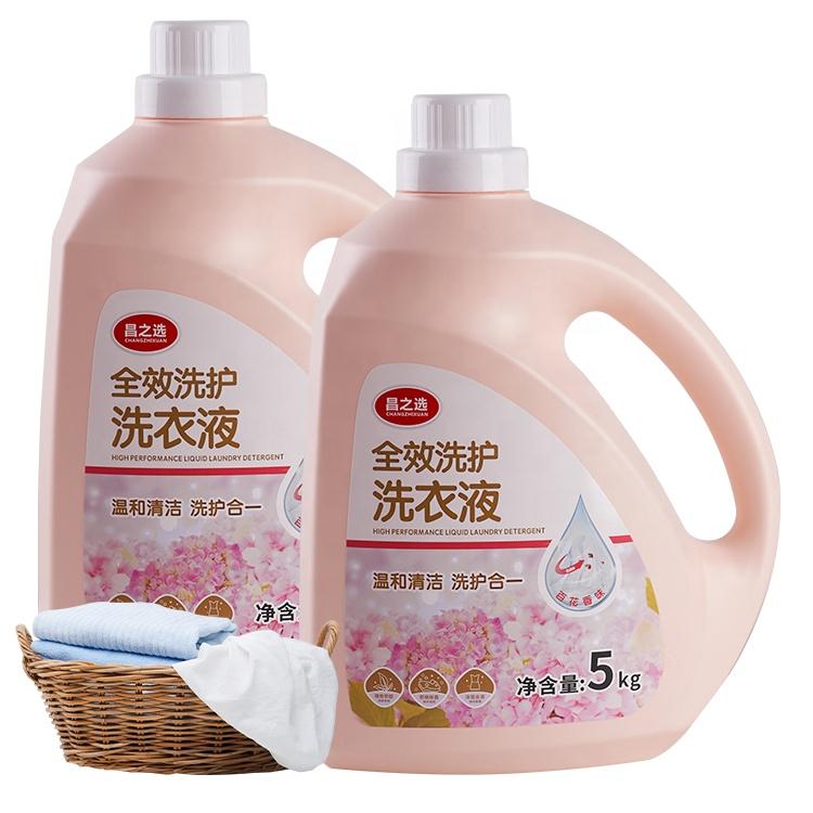 Brand Name 5KG household chemicals Formula Flower Laundry Liquid Detergent Bulk