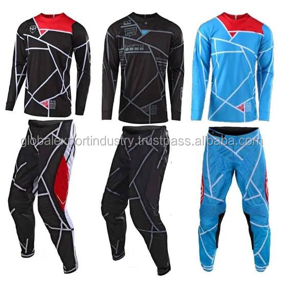 Hele koop custom motocross gear set mx broek en mx jersey