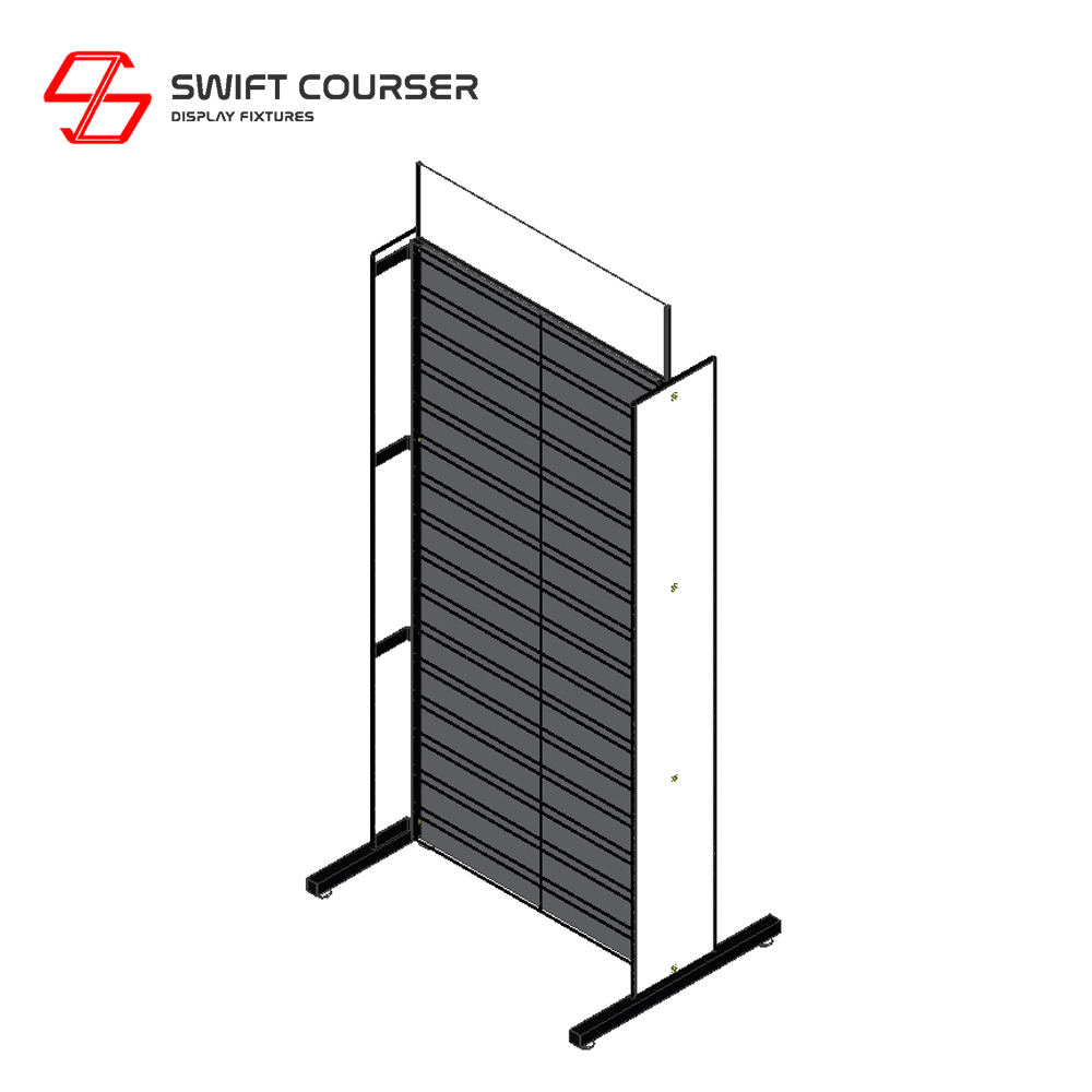 Supermarket black metal wire wall grid mesh stand