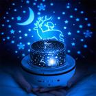 Rabbit Night Light Star Projector with Timer Bluetooth Speaker Gifts for Teen Girls Kids Nursery Home with 6 colors of Film