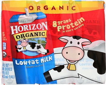 HORIZON: Organic Low Fat Milk 6 Count (8 oz each), 48 fl oz