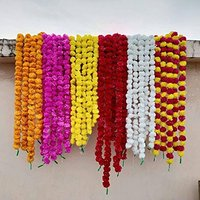 Wholesale 5 Feet Long Flower Marigold Garlands for Events, marriage decoration Multicolor