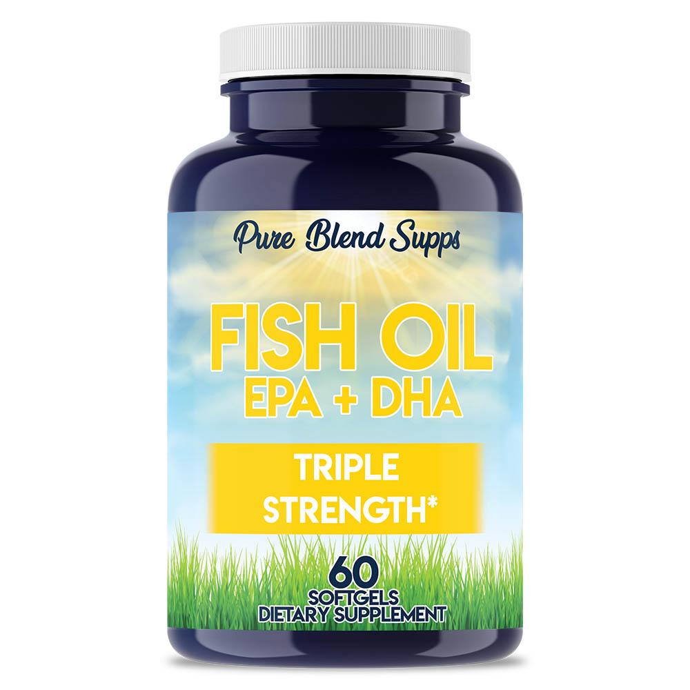 Venta al por mayor natural suplementos orgánicos vitaminas-pura mezcla cenas Triple fuerza aceite de pescado (EPA + DHA)