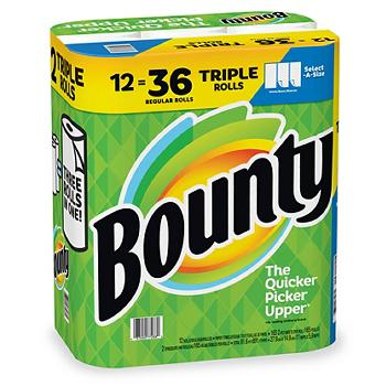 Bounty Paper Towels Triple Rolls Case Pack 12 Mega Rolls