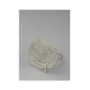 Brass leaf napkin ring
