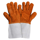 Heat Water Resistant standard Brown Warm winter Welding Gloves welder gloves for Sale