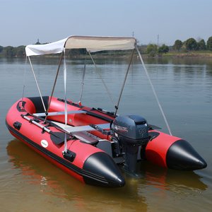 Inflatable boat PVC air tube with aluminum floor rowing paddle boat