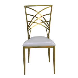 Simple design hotel furniture stainless steel banquet chairs for  wedding reception