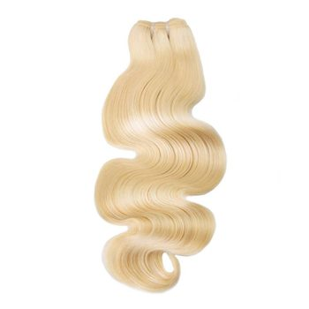 Hot sale best quality russian slavic hair #613 blonde body wave 16 inch weave