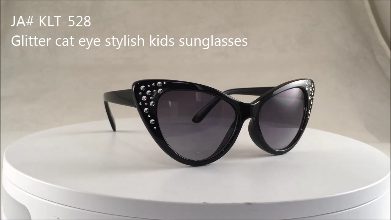 OEM logo Cute design vintage cateye kids sunglasses